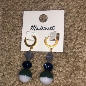 ***NEW*** Madewell blue and green earrings